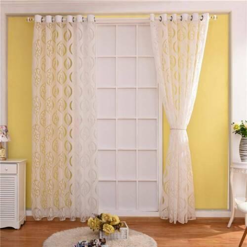 Scarf Panel Floral Drape Window Curtain Valances Living Room Tulle Sun Shade W