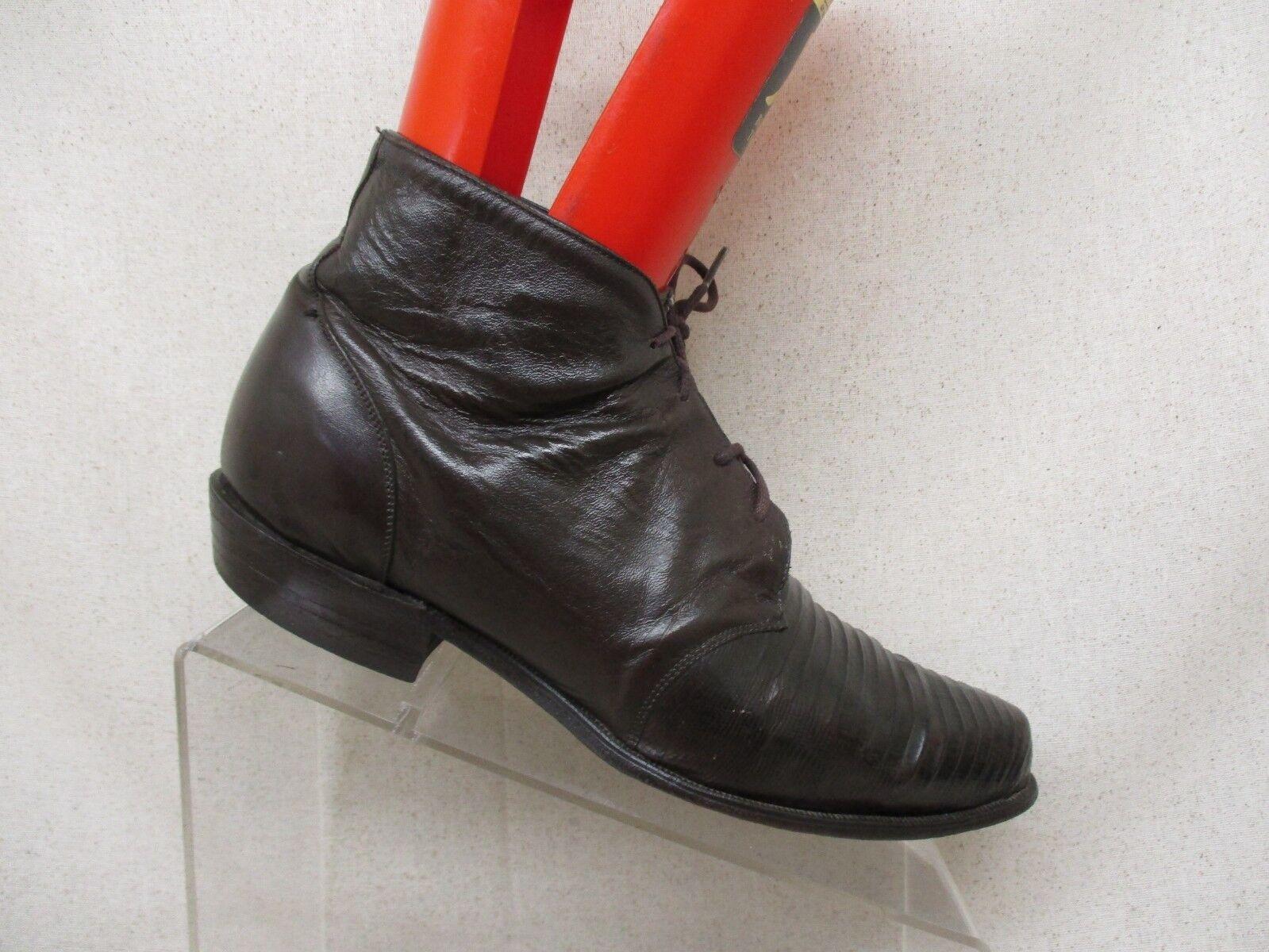 TONY LAMA braun Leather Lizard Skin Lace Up Ankle Ankle Ankle Fashion Stiefel Größe 8.5 M ef638d