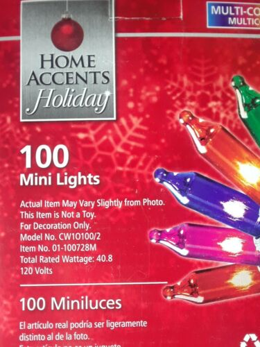 Details about  /100 ct Multicolor Mini Christmas Lights Lot of 5