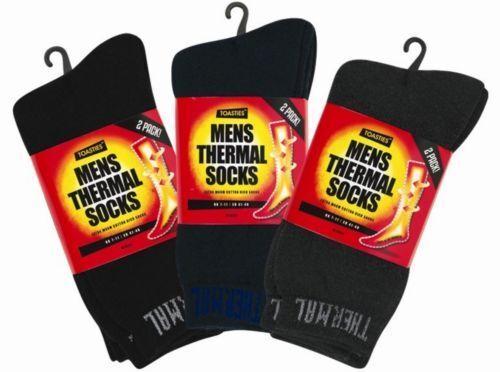 Thick Warm Work Boot Socks Size 7-11 Men/'s Black Thermal Socks 2 x Pairs