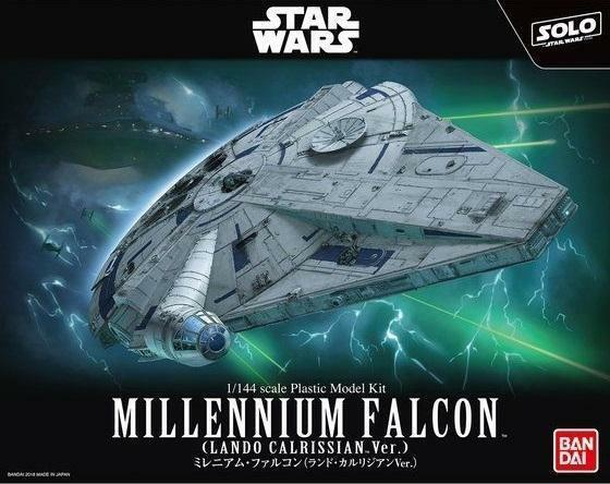BANDAI Star Wars Millennium Falcon (Lando Calrissian Ver.) 1/144 Scale Kit USA