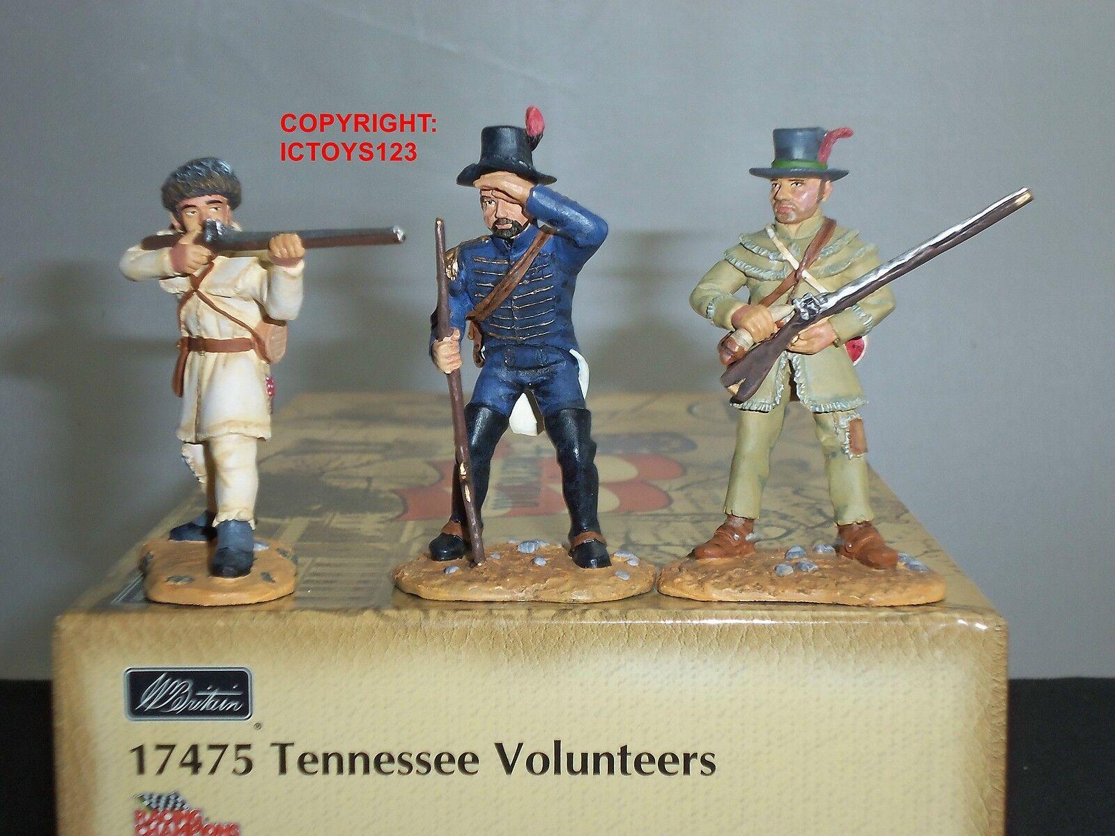BRITAINS 17475 TENNESSEE VOLUNTEERS VOLUNTEERS VOLUNTEERS BATTLE OF NEW ORLEANS TOY SOLDIER FIGURE SET 52fb82