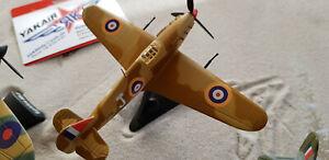 1x-Hurricane-Mk-II-RAF-ww2-Fighter-metal-caza-avion-avion-Aircraft-yakair