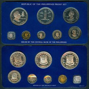 1978-Pres-MANUEL-L-QUEZON-50P-25P-Philippine-Commemorative-Coin-Set