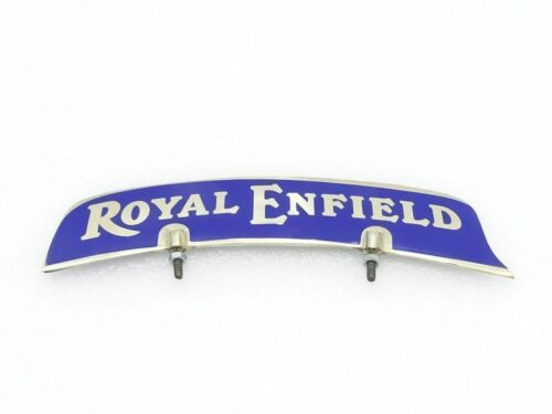 Details about  /5x ROYAL ENFIELD FRONT MUDGUARD BRASS NUMBER PLATE BLUE STICKER NEW BRAND