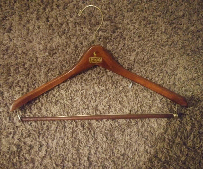 12 Polo Ralph Lauren Dark Marronee Wood Clothes- Coat Hangers
