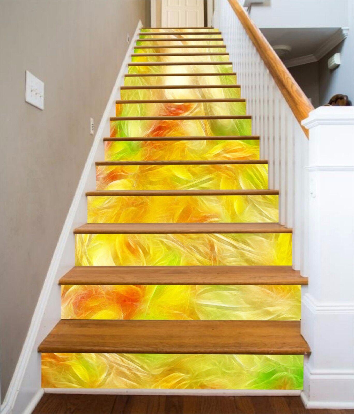 3D Gelb texture Stair Risers Decoration Photo Mural Vinyl Decal WandPapier AU