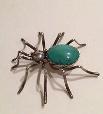 Vintage Navajo Sterling Silver Spider Pin Pendant Spencer