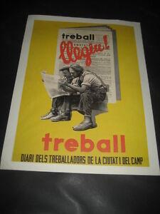 Riproduzione-Poster-Guerra-Civile-Espanola-Treball-Diari-Dels-Treballadors
