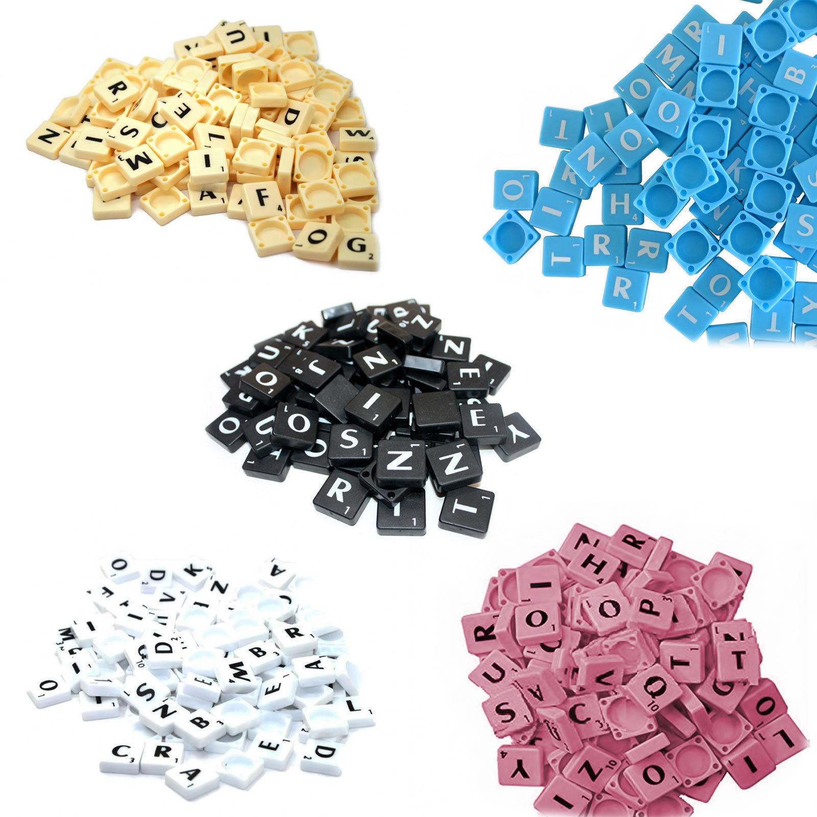 1-2000 Plastic Scrabble Tiles Letters For Art & Crafts Scrapbook UK Seller Scrb