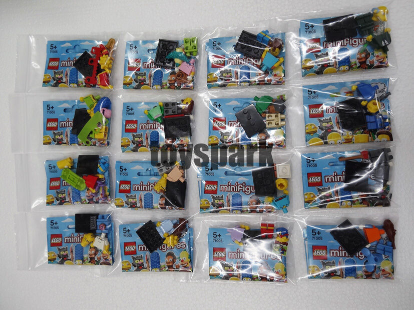 Lego 71005 The Simpsons Serie 1 Set completo con 16 Minifiguras Serie 13