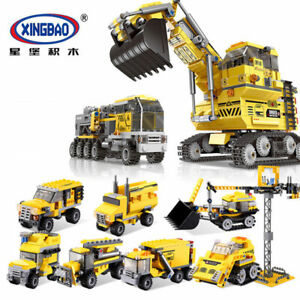 XINGBAO-Blocksteine-Engineering-Vehicle-Giant-Bagger-Spielzeug-8in1-OVP-893PCS