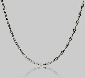 DAISY030-925-STERLING-SILVER-CHAIN-DAISY-DESIGN-18INCH-LONG-RODIUM-PLATED