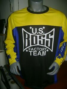 BOSS OLD SCHOOL BIKE JERSEY CLASSIC BMX JERSEY RACE BIKE SHIRT BMX VINTAGE L