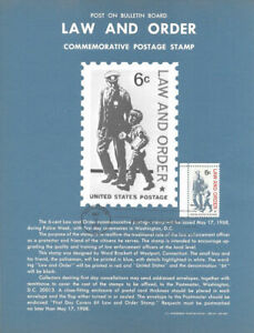 1343-6c-Law-and-Order-Stamp-Poster-Unofficial-Souvenir-Page-Flat