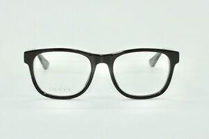 e7bf072b3d8 Image is loading Brand-New-Mens-Black-Gucci-Glasses-Model-GG0004O-