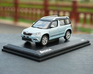 1-43-VW-Volkswagen-Skoda-Yeti-SUV-Blue-Diecast-Car-Model-Collection