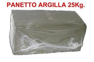 PANETTO-DI-ARGILLA-DA-25-Kg-per-Scultura-Tornio-ecc-Lavori-Creativita-Creta