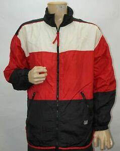 Vintage-Eeuu-Olimpiadas-Negro-Rojo-Chaqueta-Color-Bloque-Jc-Penney-Large-Hombres