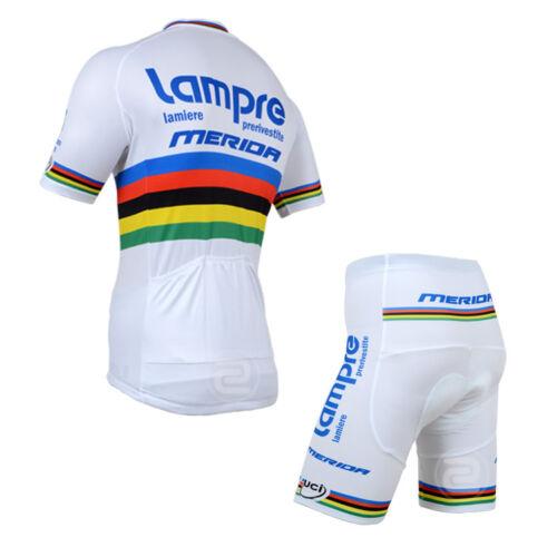 JY452 NEU Herren Rennrad Fahrrad Trikot Lätzchen Shorts Sets Hemd Klammer Knicks