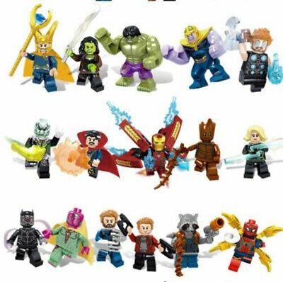 16X Marvel Super Heroes LEGO AVENGERS INFINITY WAR minifig Man Hulk Set