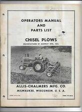 Original Oe Allis Chalmers Chisel Plows Operators Manual And Parts List Tpl 420b