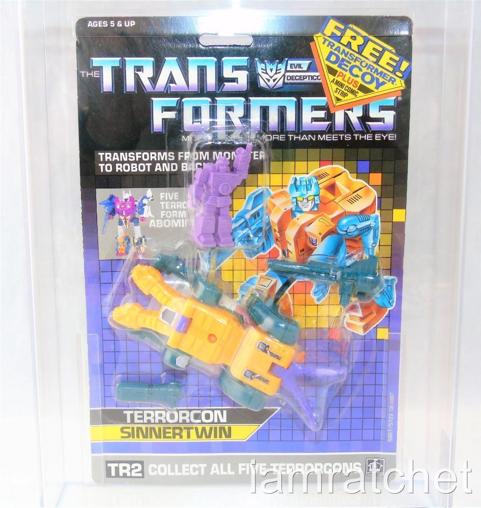 Transformers Original G1 AFA 80 Terrorcon Sinnertwin w  Decoy MOSC 80 85 90