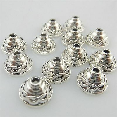 19188 100pcs Vintage Silver Alloy Mini Totem 5mm Spacer Beads Cap Findings
