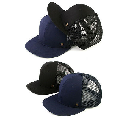 XL~2XL 61~64Cm groß monochrom uni Gaze Herren Baseball Cap Mütze Snapback Hut