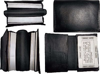 Lot Of 4 Nuovo Pelle Business Card Case, 100 Plus Scheda Custodia Nero, Bn Sentirsi A Proprio Agio
