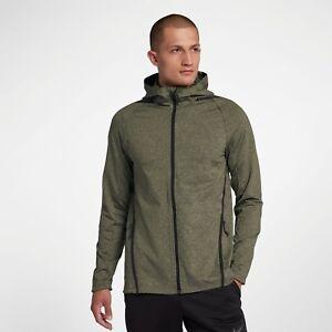 Nike Dri-FIT Long Sleeve Full-Zip Training Hoodie New Olive Green ... 73e105dc1