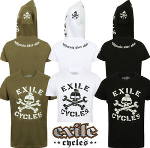 Menace-Herren-Offiziell-Exile-Cycles-T-Shirt-Chopper-Motorrad-Bike