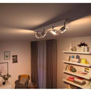 NEU-Philips-4-fla-LED-Deckenspot-Deckenlampe-Deckenleuchte-dimmbar-50484-17-LED