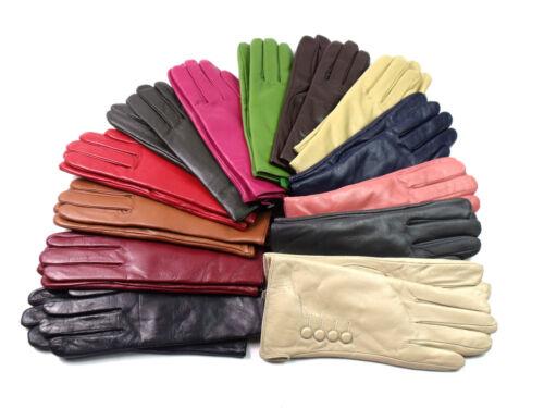 Neu Damen Premium Qualität Weich Handschuhe Echtleder Winter Fahren Gefüttert