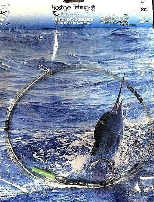 Windon leader 2 x 80lb w 12 0 circle hook  wind-on leaders  tuna kingfish