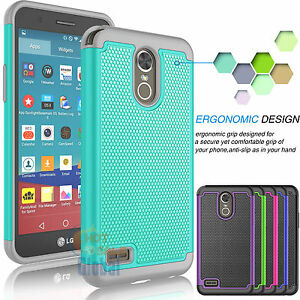 official photos 0b244 fcab9 Details about Hybrid Impact Shockproof Rubber Hard Case Cover for LG Stylus  3 / LG Stylo 3