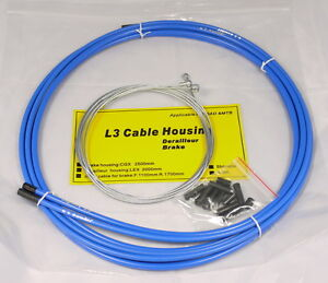 JAGWIRE SHIFTER GEAR DERAILLEUR HOSE HOUSING CABLE KIT MTB ROAD BLUE