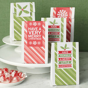 Details About 6 Martha Stewart Craft Holiday Christmas Peppermint Winter Wax Treat Bag Party