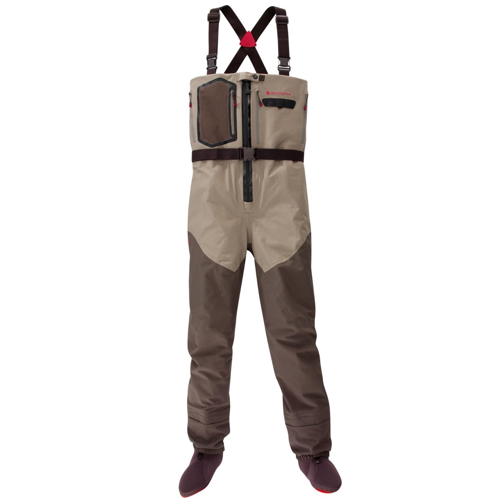 SIZE LARGE KING ROTINGTON SONIC-PRO HDZ ZIP FRONT FLY FISHING CHEST WADERS