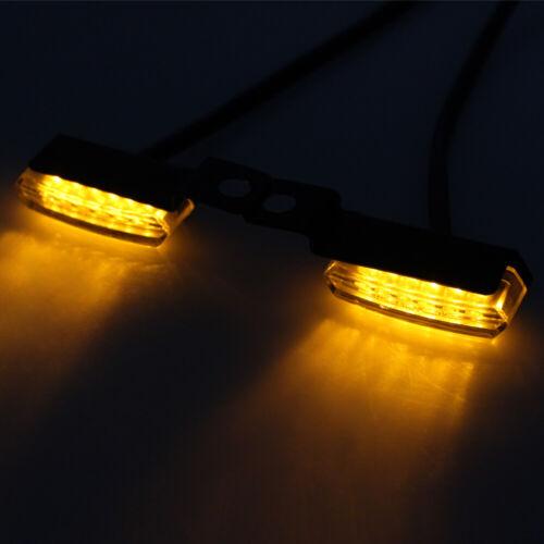2X LED Mini Motorcycle Front Rear Turn Signals Indicator Blinker Light Lamp 12V
