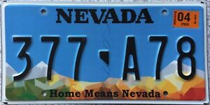 GENUINE-American-Home-Means-Nevada-Pressed-USA-Licence-License-Plate-377-A78