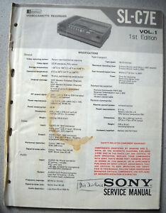 SONY-SL-C7E-Service-Manual-inkl-einiger-Service-Infos