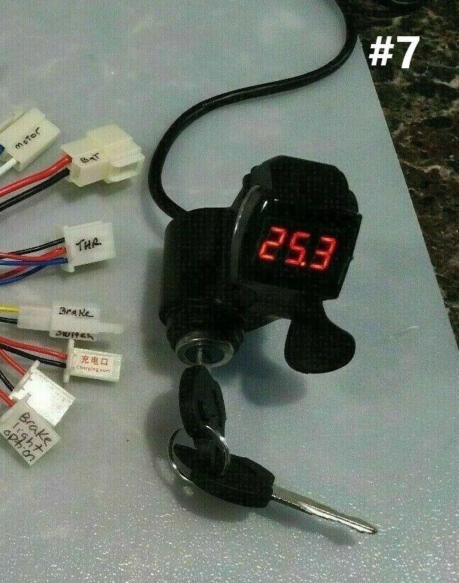 EBike+Electric Scooters E-bike Bar 36V//48V Throttle Grip Handlebar 180cm Cable-X