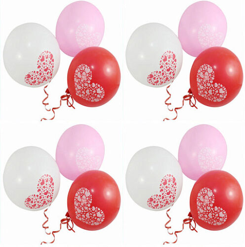 100 pcs 12 Love Hearts Pearl Latex Balloon Celebration Party Wedding Decoration