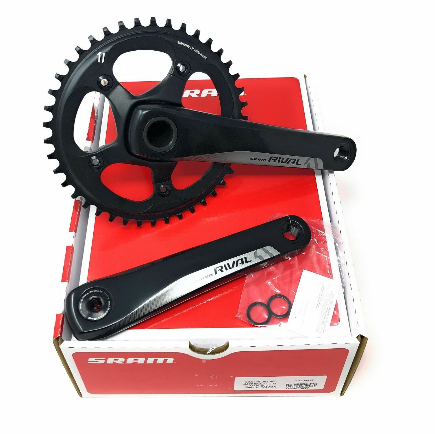 ALL NEW SRAM Rival1 GXP X-SYNC 170mm 42T Crankset 11 Speed Road Bike w o BB