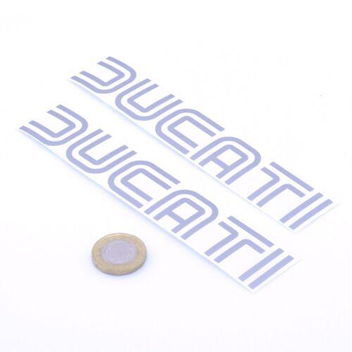 Ducati Stickers Silver Decal Vinyl Motorbike 150mm x2 Motorcycle Tank Fairing