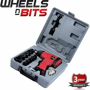 "Air Impact Wrench Set with Sockets Inline filter Extension Bar 17PC 1//2/"" Dr"