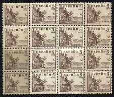 EDIFIL 916** Bloque 12  5 céntimos 1940 Cifras y Cid  (sombras del tiempo)