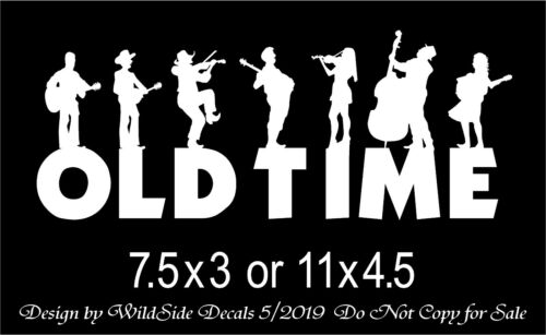 Old Time Music Decal Musicians Vinyl Car Truck Sticker Two Sizes to Choose