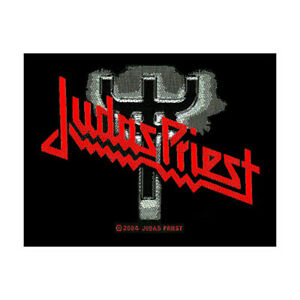 JUDAS-PRIEST-Fork-Logo-Woven-Patch-Sew-On-Official-Band-Merch-Metal